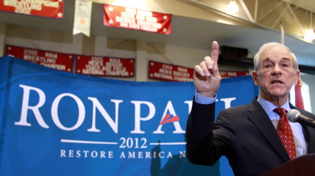 Republican Presidential candidate Ron Paul. UPI/Bill Greenblatt