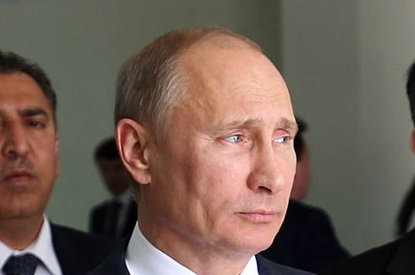 Russian President Vladimir Putin, pictured in June 2012, signed a deal with Hungarian Prime Minister Viktor Orban on January 14, 2014 to finance the expansion of a Hungarian nuclear plant. (UPI/Abed Hashlamoni/Pool)
