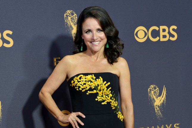 Julia Louis-Dreyfus continues to battle breast cancer which has postponed production on Veep. File Photo by Christine Chew/UPI