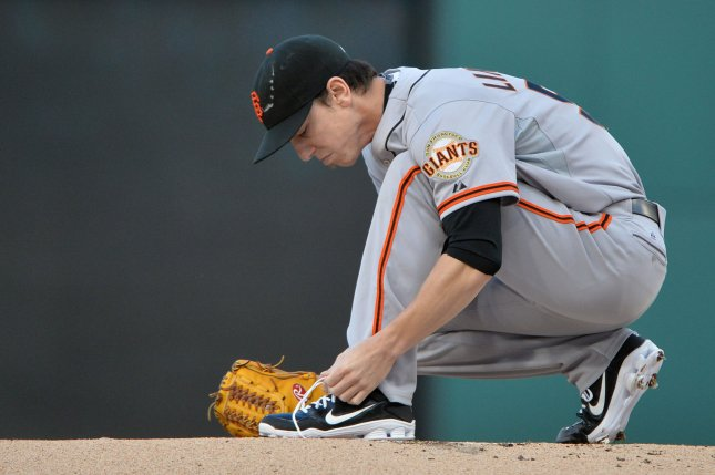 Former San Francisco Giants pitcher Tim Lincecum. File photo by Kevin Dietsch/UPI