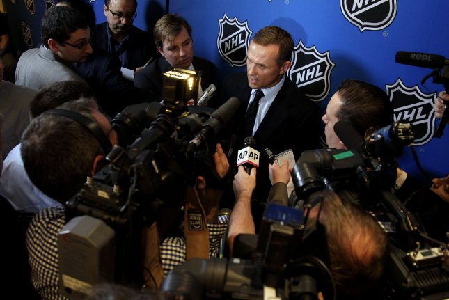 Former Tampa Bay Lightning GM Steve Yzerman is expected to take the same role with the Detroit Red Wings on Friday. File Photo by John Angelillo/UPI