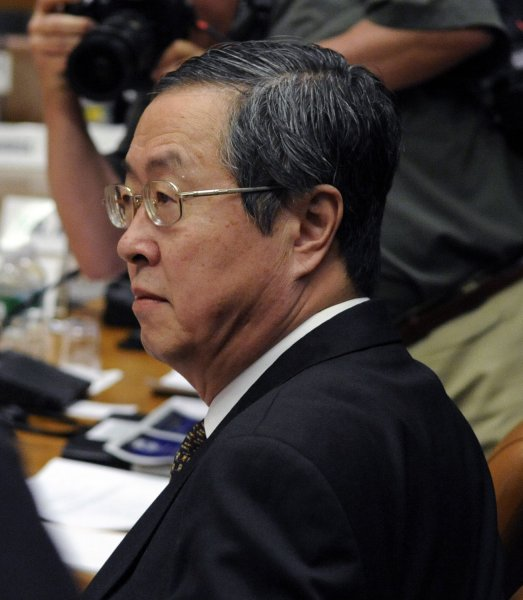 Zhou Xiaochuan, Governor of the People's Bank of China, arrives for the International Monetary Fund (IMF) financial committee meeting during the IMF/World Bank spring meetings in Washington on April 25, 2009. (UPI Photo/Alexis C. Glenn)