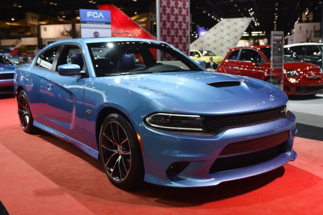 A 2015 Dodge Charger is displayed at the Chicago Auto Show on February 12, 2015 in Chicago. The largest auto show in North America opens to the public on February 14 with more than 1 million square feet of exhibit space. UPI/Brian Kersey