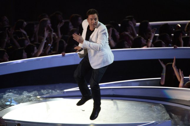 Jimmy Fallon appears at the 2014 MTV Video Music Awards on August 24, 2014. The new ride Race Through New York Starring Jimmy Fallon is now open at Universal Studios Orlando. File Photo by Pat Benic/UPI