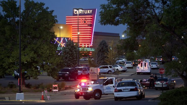 Twelve moviegoers are shot and killed with up to 38 wounded during a midnight premiere of the new Batman movie at the Century 16 movie theaters at the Aurora Mall in Aurora, Colorado on July 20, 2012. The suspect, James Holmes, threw a smoke bomb and opened fire on moviegoers. He surrendered to police and is currently in custody. UPI/Gary C. Caskey