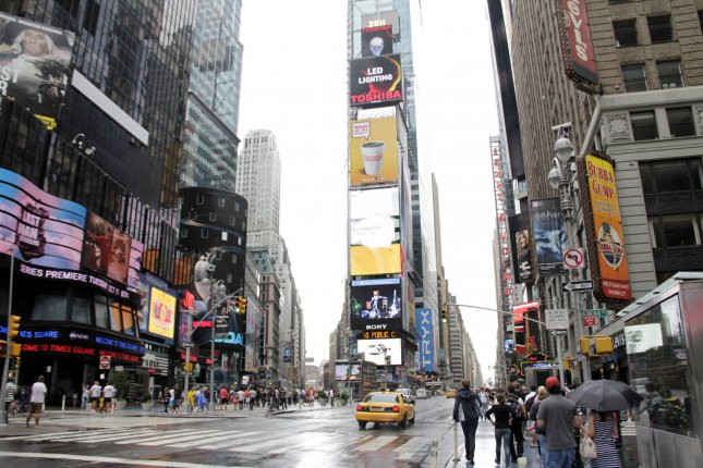 Nude model arrested in Times Square