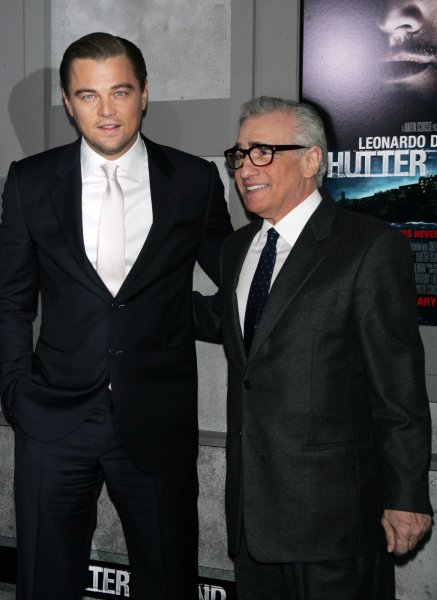 Leonardo DiCaprio and Martin Scorsese arrive for the premiere of Shutter Island at the Ziegfeld Theater in New York on February 17, 2010. UPI /Laura Cavanaugh