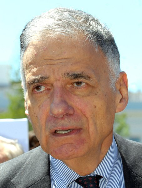 Presidential candidate Ralph Nader calls says Democrats are holding a grudge against him for the 2000 election and keeping him from testifying before congressional committees. (File photo dated May 23, 2008.) (UPI Photo/Roger L. Wollenberg)