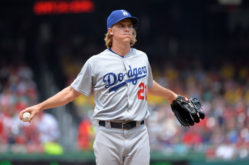 Los Angeles Dodgers pitcher Zack Greinke. Photo by Kevin Dietsch/UPI