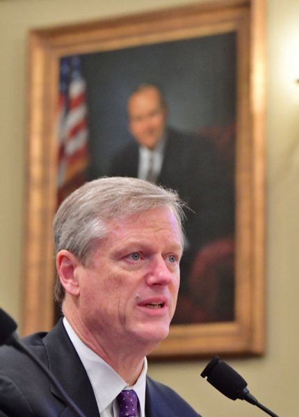 Gov. Charlie Baker, R-Mass., had previously stated that he supported the ban of conversion therapy. Photo by Kevin Dietsch/UPI