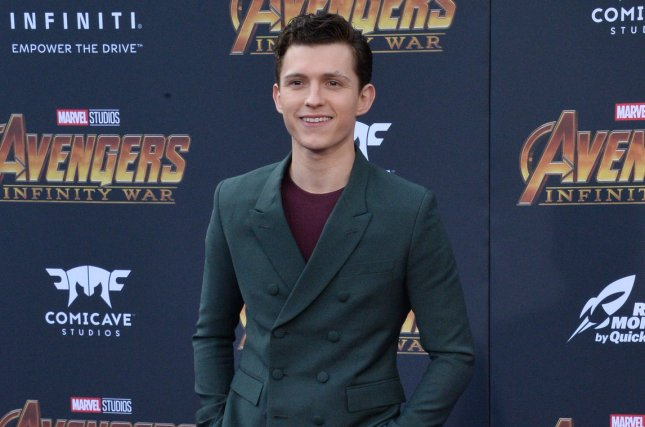 Tom Holland and the rest of his Spider-Man: Far From Home co-stars including Zendaya and Jake Gyllenhaal appeared on Jimmy Kimmel Live to discuss the upcoming film. File Photo by Jim Ruymen/UPI.