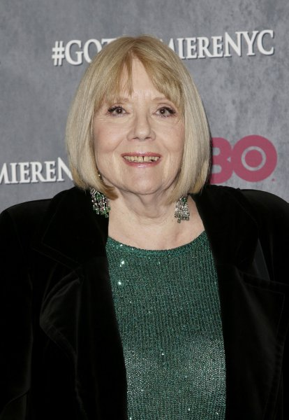Diana Rigg, who played Olenna Tyrell on Game of Thrones and Emma Peel on The Avengers, died Thursday. File Photo by John Angelillo/UPI