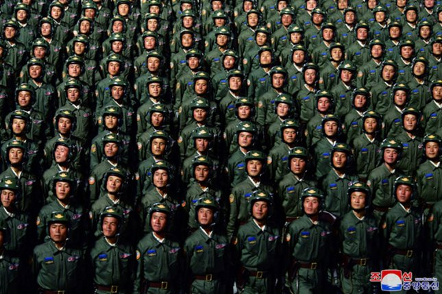 North Korean state media said Monday the military is subordinated to the ruling Korean Workers' Party, after Kim Jong Un outlined a new five-year plan to revive the regime's economy during January's Eighth Party Congress. File Photo by KCNA/UPI