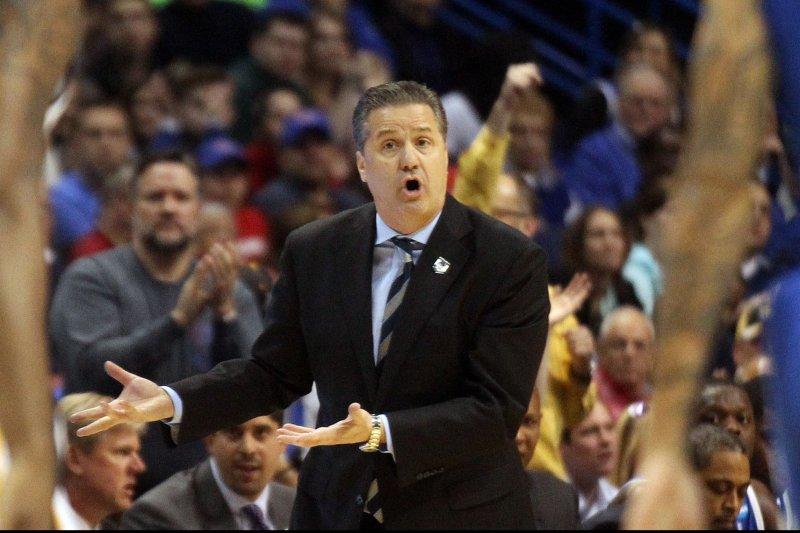 Kentucky Wildcats head basketball coach John Calipari. UPI/Bill Greenblatt
