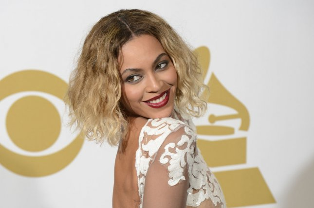 Beyonce appears backstage at the 56th annual Grammy Awards at Staples Center in Los Angeles on January 26, 2014. UPI/Phil McCarten