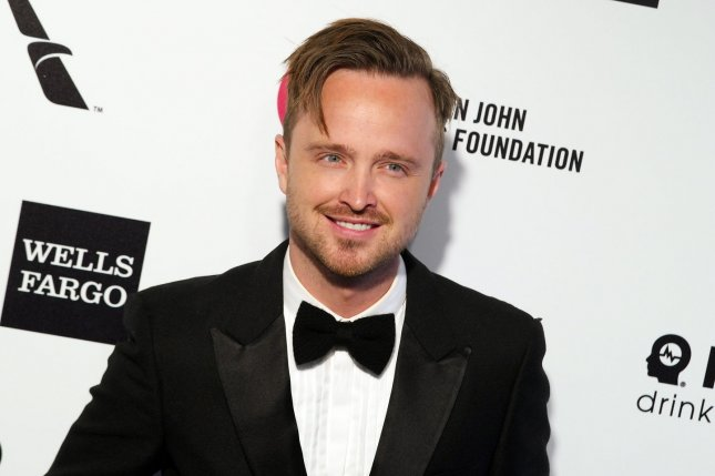 Aaron Paul at the Elton John AIDS Foundation Academy Awards viewing party on February 22, 2015. File Photo by Jonathan Alcorn/UPI