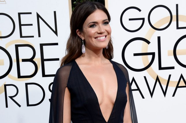 Tangled star Mandy Moore attends the 74th annual Golden Globe Awards at the Beverly Hilton Hotel in Beverly Hills on January 8. Photo by Jim Ruymen/UPI
