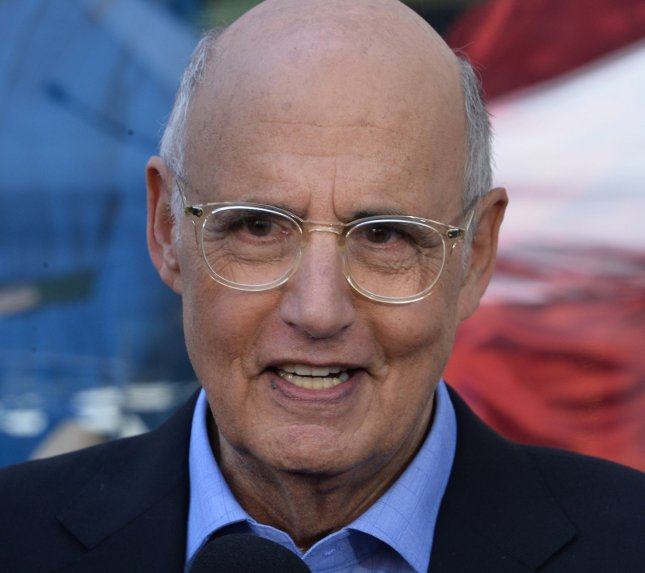Actor Jeffrey Tambor speaks with reporters following an unveiling ceremony honoring him with the 2,617th star on the Hollywood Walk of fame in Los Angeles on August 8. Tambor's show Transparent has been renewed for a fifth season. File Photo by Jim Ruymen/UPI