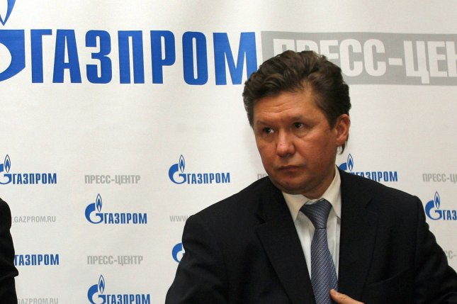 Russian gas monopoly Gazprom chief Alexei Miller says a fundamental component of the company's strategy is the Asian market. File photo by Anatoli Zhdanov/UPI