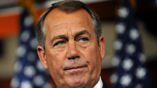 U.S. House Speaker John Boehner wants larger spending cuts and reforms before discussing any raise in the debt ceiling. May 10 file photo. UPI/Kevin Dietsch