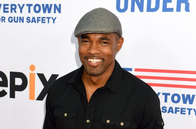 Jason George attends the Beverly Hills, Calif., premiere of Under the Gun on May 3, 2016. The actor will serve as a series regular in a new Grey's Anatomy spinoff. File Photo by Michael Owen Baker/UPI