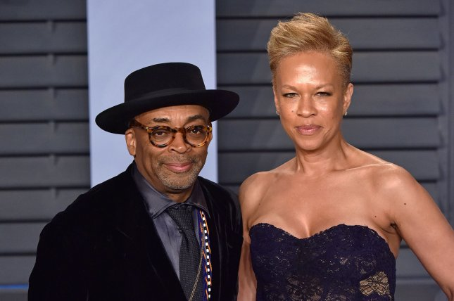 Spike Lee (L), pictured with Tonya Lewis Lee, had his movie BlacKkKlansman selected for the 2018 Cannes Film Festival. File Photo by Christine Chew/UPI