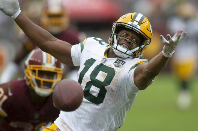 Former Green Bay Packers wide receiver Randall Cobb had a drop in production in 2018, but could fill a need for the Dallas Cowboys, who lost Cole Beasley in free agency. File Photo by Alex Edelman/UPI