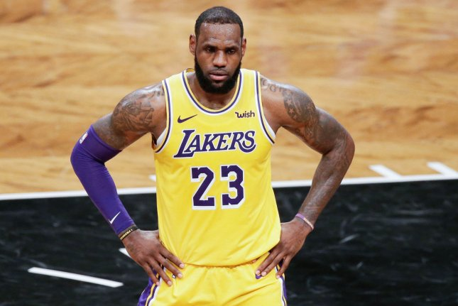 Los Angeles Lakers star LeBron James leads the NBA with 11.1 assists per game this season. File Photo by John Angelillo/UPI
