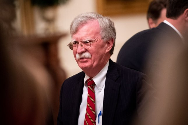 National security adviser John Bolton attends an event at the White House in Washington, D.C., on July 18, 2019. File Photo by Kevin Dietsch/UPI