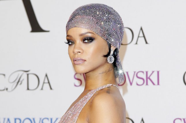 Rihanna arrives at the 2014 CFDA fashion awards at Alice Tully Hall, Lincoln Center in New York City on June 2, 2014. UPI/John Angelillo