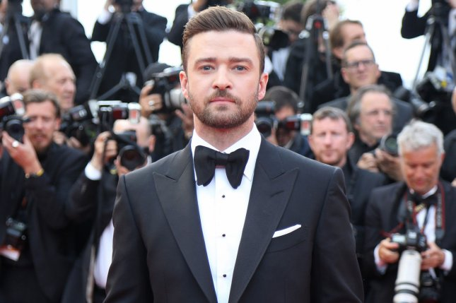 Justin Timberlake arrives on the red carpet before the screening of the film Cafe Society at the opening of the 69th annual Cannes International Film Festival in Cannes, France on May 11, 2016. Timberlake featured the new fall collection for his fashion brand William Rast in a new promo video posted to YouTube Thursday. File Photo by David Silpa/UPI