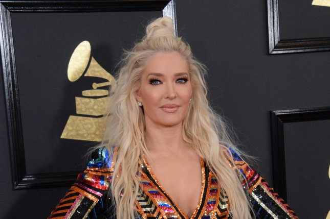 Erika Jayne attends the Grammy Awards on February 12. The television personality responded Monday to criticism of her performances with Gleb Savchenko. File Photo by Jim Ruymen/UPI
