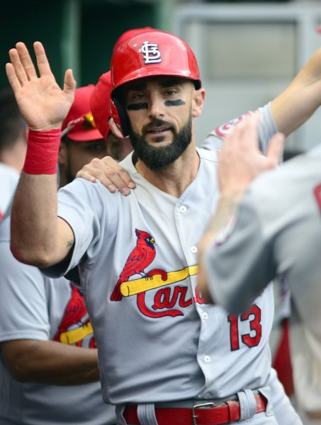 Matt Carpenter and the St. Louis Cardinals take on the Kansas City Royals on Friday. Photo by Archie Carpenter/UPI