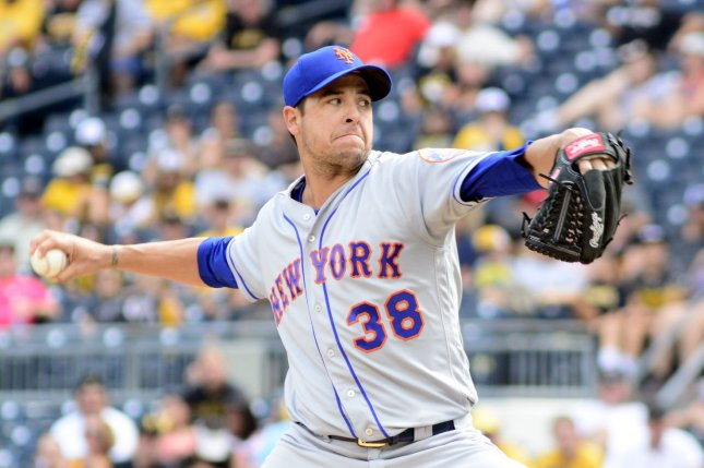 Former Mets reliever Anthony Swarzak has a 4.33 ERA in 10 seasons. File Photo by Archie Carpenter/UPI