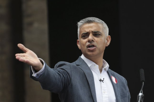 London Mayor Sadiq Khan joined other British politicians in condemning U.S. President Donald Trump's attacks on four congresswomen as racist. File Photo by Hugo Philpott/UPI