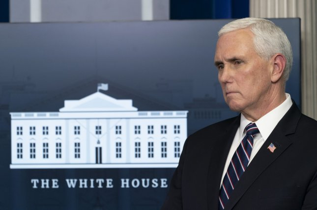 Vice President Mike Pence said Wednesday that he was briefed Philadelphia has become area of particular concern for the COVID-19 outbreak as the city has experienced 1,400 cases per day. Photo by Chris Kleponis/UPI