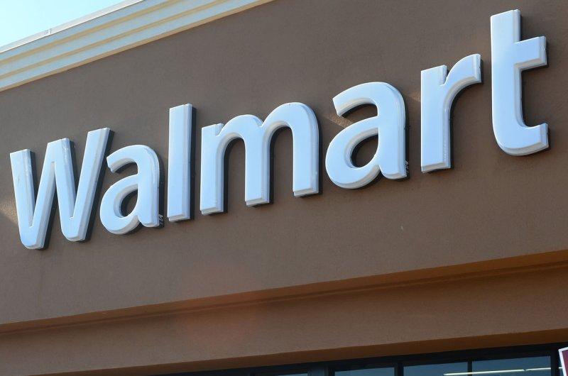 A sign on a Walmart store (File/UPI/Jim Ruymen)