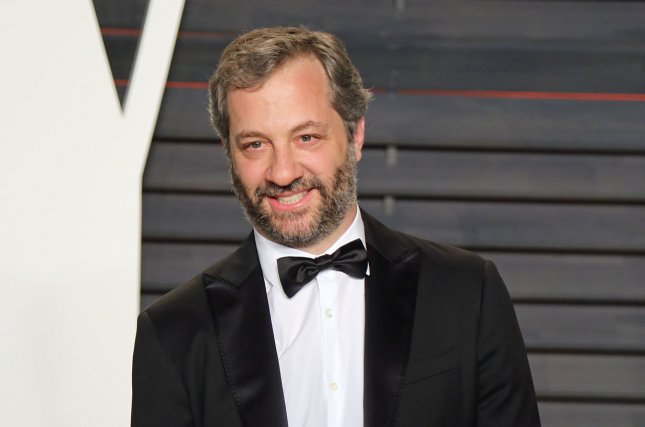 Judd Apatow attends the 2016 Vanity Fair Oscar Party at the Wallis Annenberg Center for the Performing Arts in Beverly Hills on February 28, 2016. The director turns 50 on December 6. File Photo by David Silpa/UPI