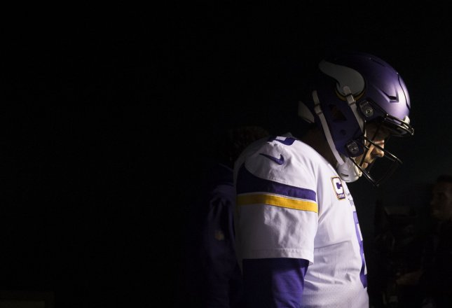 Minnesota Vikings quarterback Sam Bradford (8) takes the field before their game against the Philadelphia Eagles in the NFC Championship at Lincoln Financial Field in Philadelphia on January 21, 2018. The Eagles defeated the Vikings 38-7 and will face the New England Patriots in Super Bowl LII. Photo by Kevin Dietsch/UPI