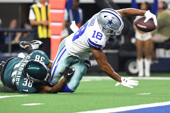 Randall Cobb (18) had 828 yards and three touchdowns in 15 games last season for the Dallas Cowboys. File Photo by Ian Halperin/UPI