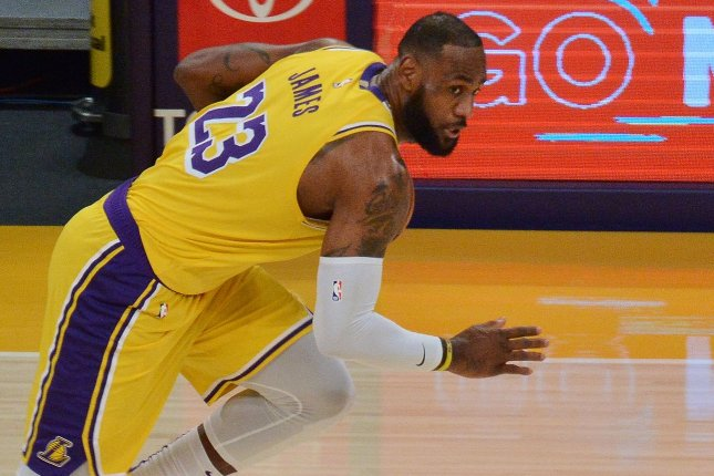 LeBron James scored a game-high 27 points for the Los Angeles Lakers in a win over the Denver Nuggets on Thursday in Los Angeles. File Photo by Jim Ruymen/UPI
