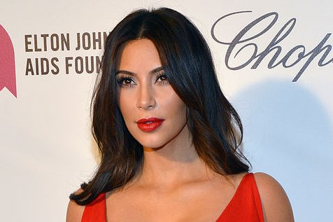 Kim Kardashian arrives for the Elton John AIDS Foundation Academy Awards Viewing Party at West Hollywood Park in Los Angeles on March 2, 2014. UPI/Christine Chew
