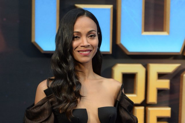 Zoe Saldana attends the London premiere of Guardians of the Galaxy Vol. 2 on April 24. File Photo by Rune Hellestad/UPI