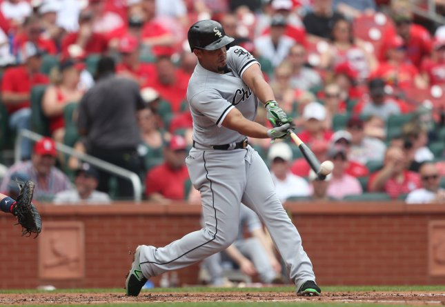 Jose Abreu and the Chicago White Six face the Texas Rangers on Friday. Photo by Bill Greenblatt/UPI