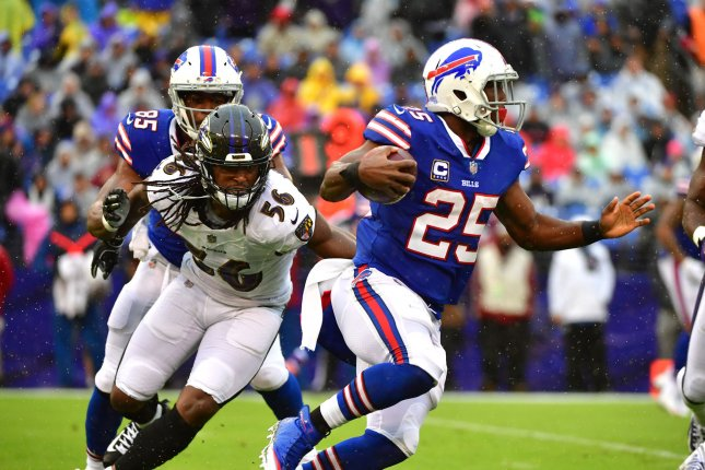 Buffalo Bills running back LeSean McCoy ran for a career-low 514 yards last year. File Photo by Kevin Dietsch/UPI