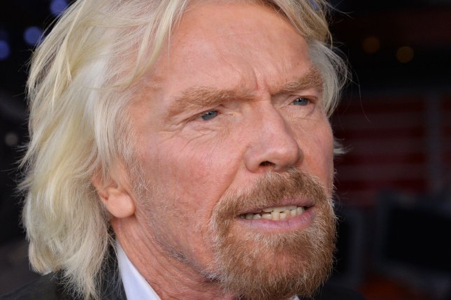 In an open letter to Virgin Australia employees, Richard Branson blamed the Australian government and vowed the carrier will survive. File Photo by Jim Ruymen/UPI
