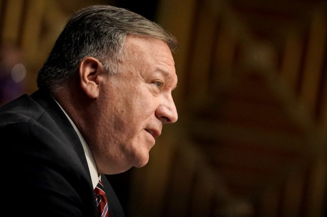 Secretary of State Michael Pompeo said Chinese diplomats working in the United States must now ask for permission to meet with government officials, visit university campuses and hold events larger than 50 people outside of mission property. Photo by Greg Nash/UPI