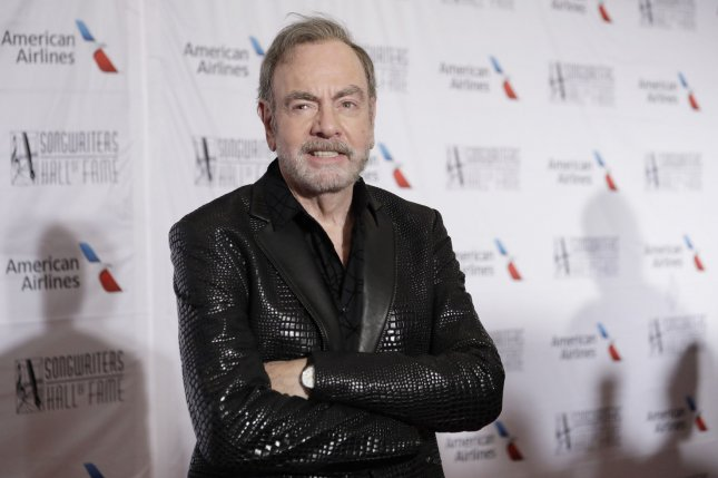 Neil Diamond arrives on the red carpet at the Songwriters Hall of Fame 49th Annual Induction and Awards Dinner at New York Marriott Marquis Hotel on June 14, 2018. The singer turns 80. File Photo by John Angelillo/UPI