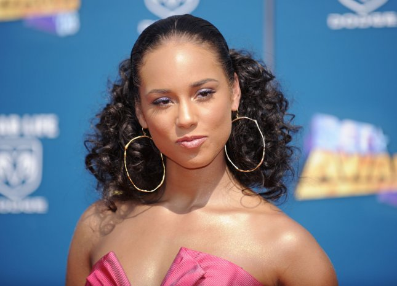 Alicia Keys attends the BET Awards 2008 in Los Angeles on June 24, 2008. (UPI Photo/ Phil McCarten)