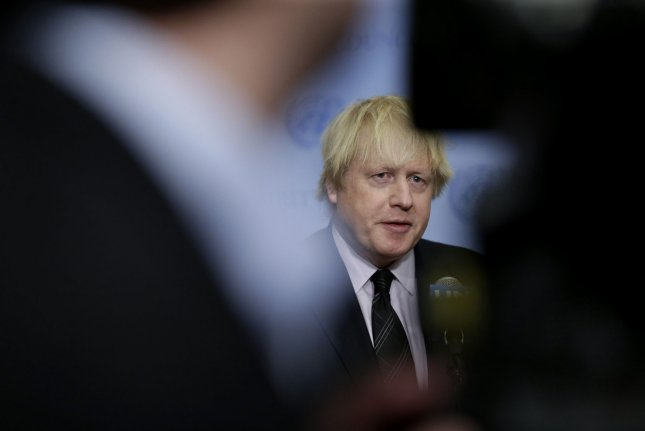 British Foreign Secretary Boris Johnson visits Benghazi, Libya, the first such visit by a British official since 2011. London said it was interested in peace and stability in OPEC-member Libya. Photo by John Angelillo/UPI